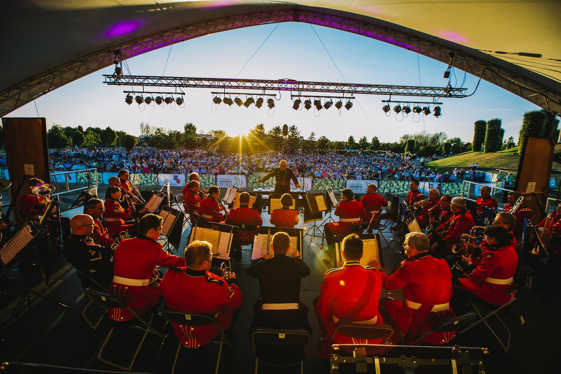 Band at the 2018 Summer Proms at the Arboretum
