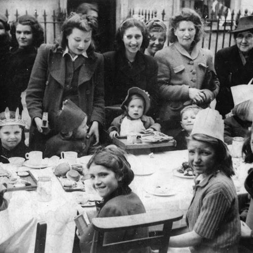 Image of a VE Day Street Party in 1945