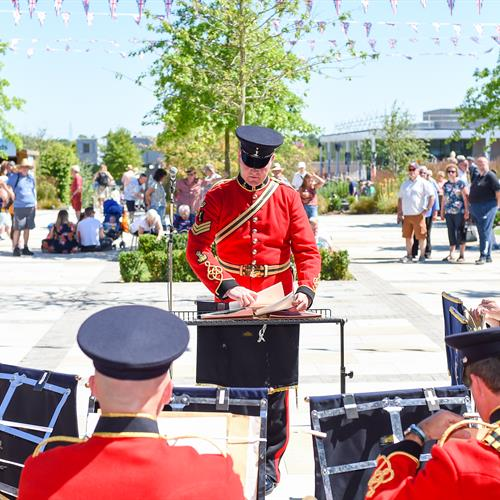 The Band of the Royal Signals on Armed Forces Day