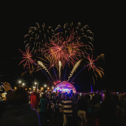Fireworks during the summer proms at the Arboretum