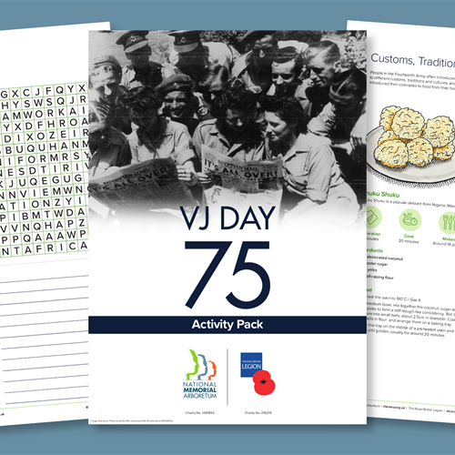 Pages from the VJ Day Activity Packs