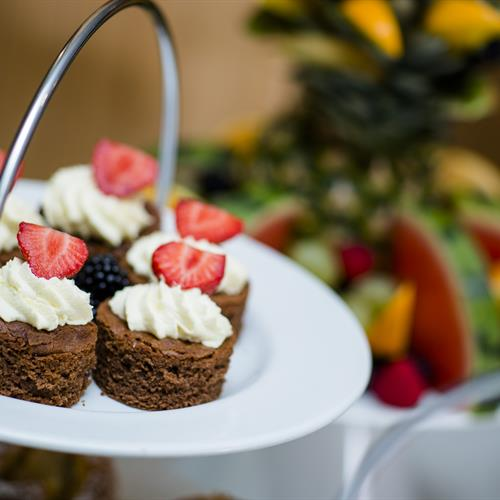 A selection of cakes in the Restaurant
