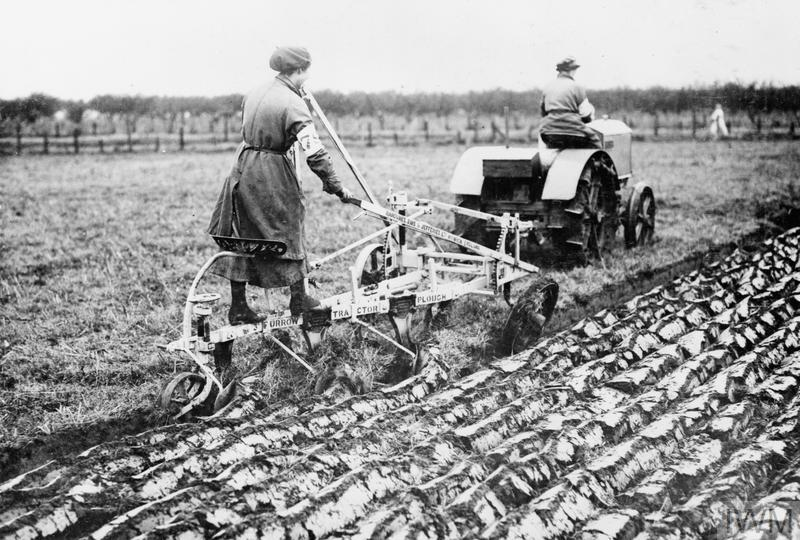 Women's Land Army working in the Fields