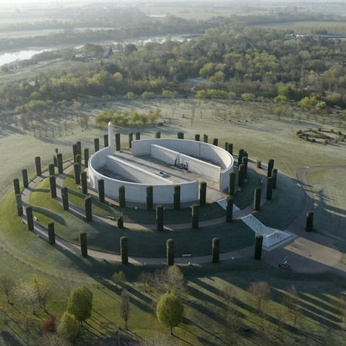 Armed Forces Memorial in frost, May 2021