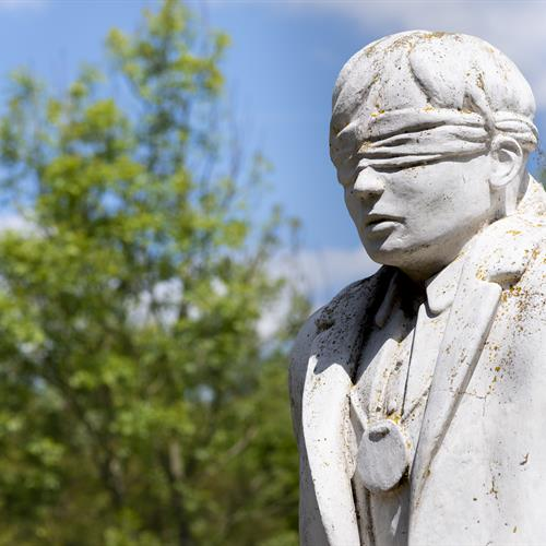 Shot at Dawn Memorial. Close up of Statue of blindfolded soldier