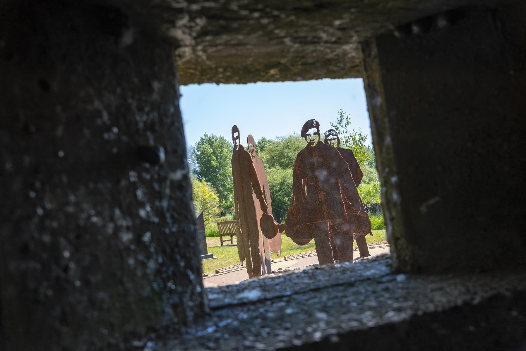 RAF 47 Squadron Memorial Taken Through Pill Box Window