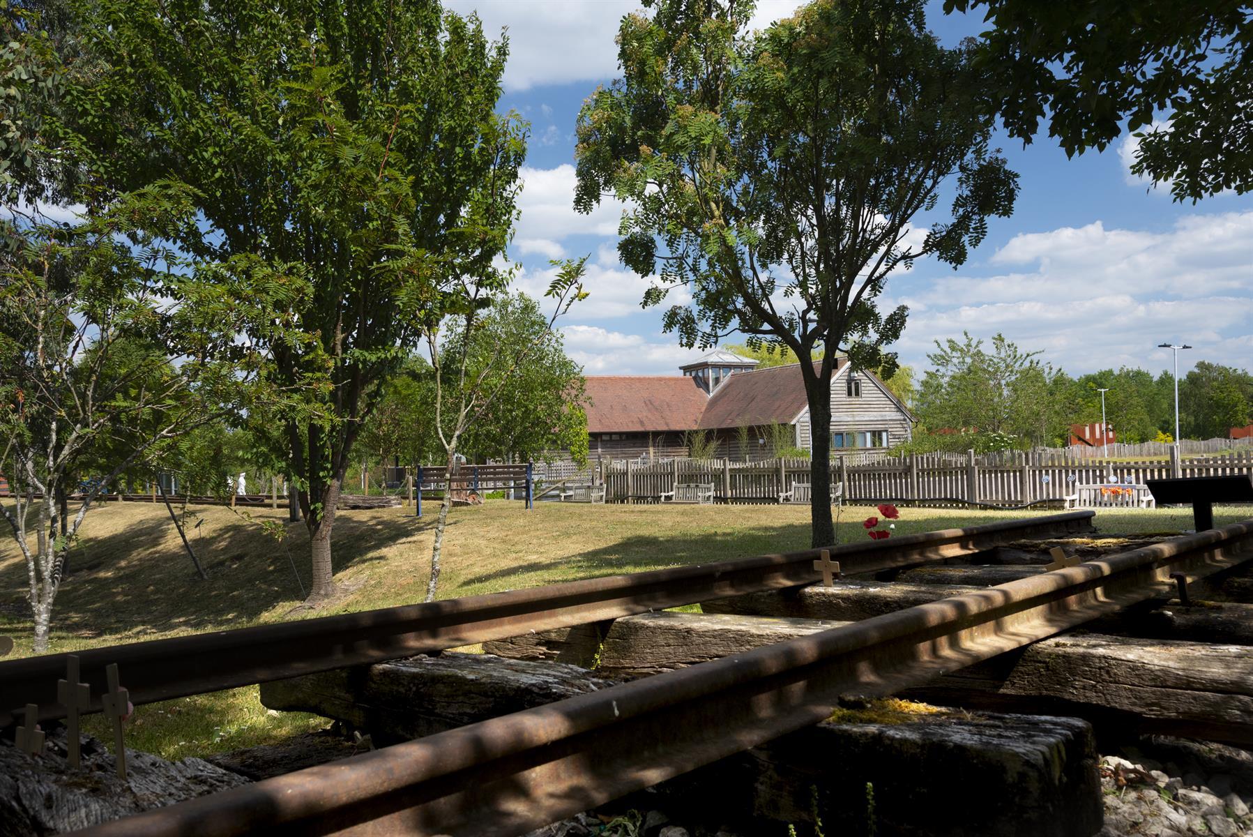 The Burma Railway Memorial - includes original track and sleepers