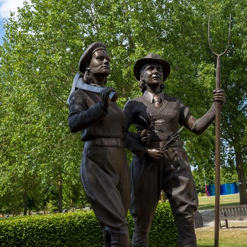 Women's Land Army and Timber Corps Memorial Bronze Statues