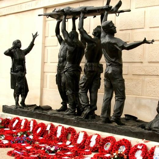 Poppy Wreaths at the Armed Forces Memorial